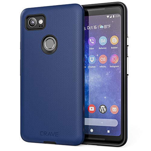 Google Pixel 2 XL Case, Crave Dual Guard Protection Series Case for Google Pixel 2 XL - Navy