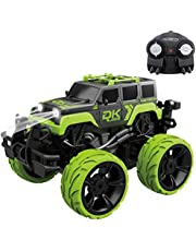 Fistone RC Monster Truck 2.4G Remote Control Stunt Car, 360 Degree Spinning Dancing Stunt High Speed Off-Road Vehicle Dune Buggy Hobby Toys with Lights and Music for Kids and Adults