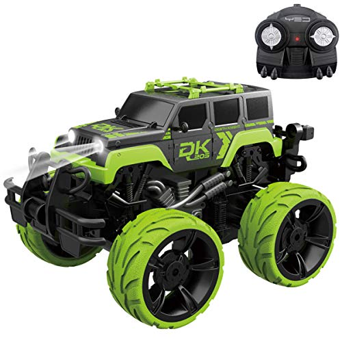 Fistone RC Monster Truck 2.4G Remote Control Stunt Car, 360 Degree Spinning Dancing Stunt High Speed Off-Road Vehicle Dune Buggy Hobby Toys with Lights and Music for Kids and Adults (Best Remote Control Trucks For Adults)