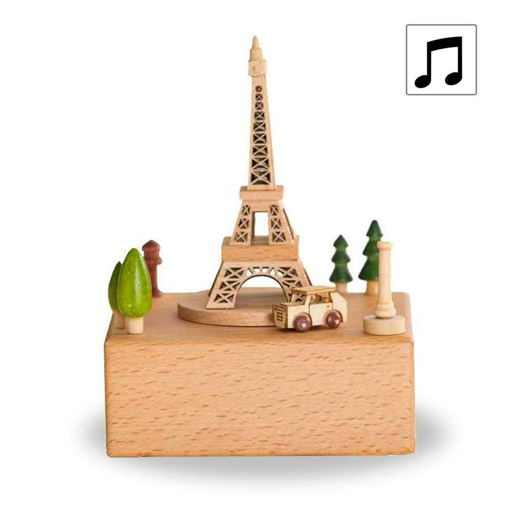 Toy Decoration Birthday Present Xmas Gift for Girls//Boys//Friends Womdee Mini Wooden Music Box Featuring Bears on Seesaw Plays Castle in The Sky Song Rhymes Movement