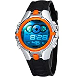 New Digital Boys Kids Children Sport Watch Alarm Date Day Chronograph 7 Colors LED Back Light 3ATM Waterproofed Wristwatch