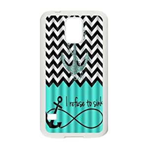 New Design Case for samsung galaxy s5 i9600 w/ I Refuse to sink image at Hmh-xase (style 3)