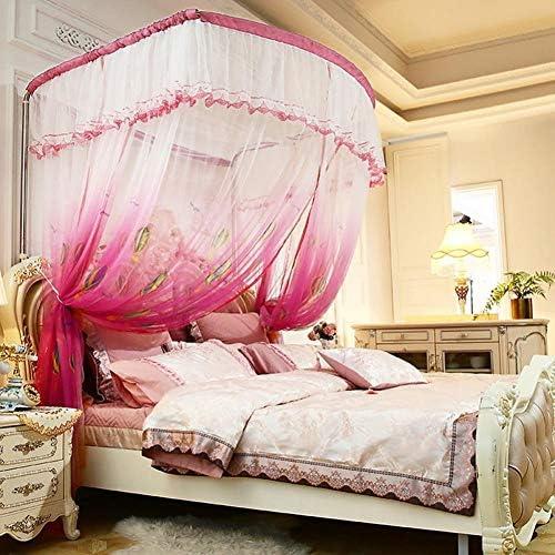 蚊帳屋内竹繊維の折りたたみ夏には、効果的に蚊ハエの咬傷からあなたを守り、100%、150 * 100センチメートル,赤面ピンク