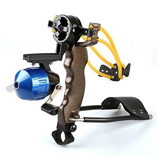 Bowfishing Crossbow - VERY100 High Velocity Hunting Fishing Slingbow Slingshot Fishing Reel Catapult Arrow Rest and Wrist