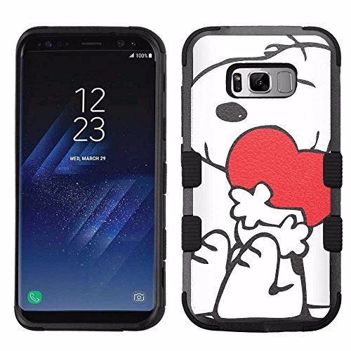 for Samsung Galaxy S8 Plus, Hard+Rubber Dual Layer Hybrid Heavy-Duty Rugged Armor Cover Case – Snoopy #H
