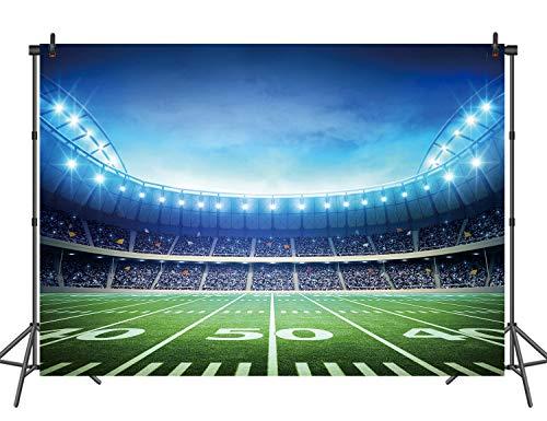 Football Field Background (RUINI Football Field Photography Backdrop Football Field AuditoriumLight Themed Party Backdrop)