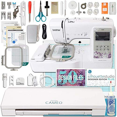 Silhouette Cameo 3 Plus Brother Embroidery Machine Bundle with Designer Edition - Embroidery Silhouette