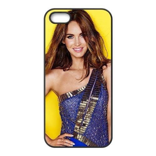 Megan Fox Actress Poses Wide coque iPhone 5 5S cellulaire cas coque de téléphone cas téléphone cellulaire noir couvercle EOKXLLNCD25927