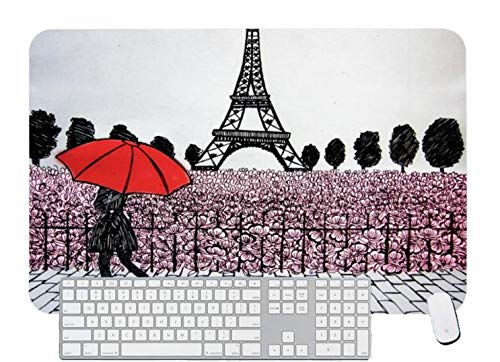 Gaming Mouse Pad Parisian Girl for Desktop and Laptop 1 Pack 700x300x3mm/27.5x11.7x1.1 in