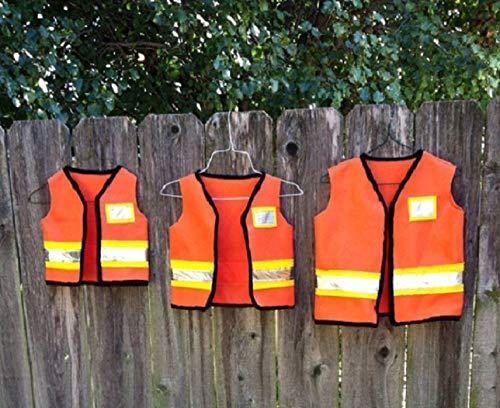 (construction worker dress up vest dramatic play costume toddler child kids birthday party theme photo prop dress up bin size 1 2 3 4 5)