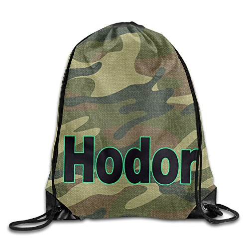Price comparison product image Show Time Hodor Hold The Door Backpack Gymsack Drawstring Rucksack