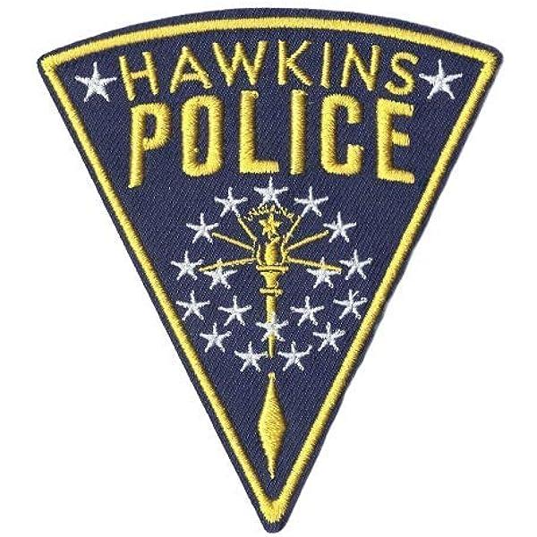 Parche bordado inspirado en The Stranger Things de PSL Hawkins con el logo de la policía Jim Hopper: Amazon.es: Hogar