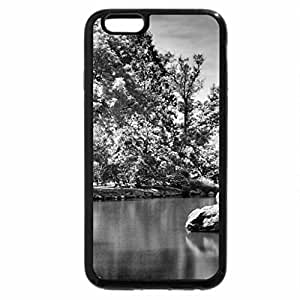 iPhone 6S Case, iPhone 6 Case (Black & White) - Tree Frost