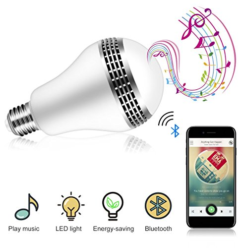 Smart LED Bulb, OUTAD Bluetooth Music Light Bulb, Disco Music Party Light Bulb with Speaker-Smart phone Controlled Multicolored Color Changing Party Lights Bulb, 10 Watts