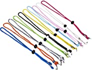 BESPORTBLE 10PCS Hat Strap Clips Adjustable Cap Retainers Anti- Lost Strap with Cord Lock for Camping Hiking F