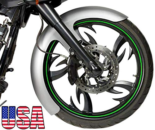 "DEMONS CYCLE Bare Steel 5-7/8"" Wide Front Fender for Harley Road King Touring 23"" 130 Wheels"