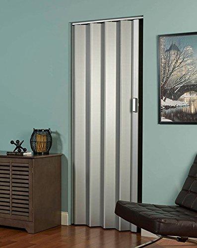 LTL Home Products EL4896S Elite Interior Accordion Folding Door, 48'' x 96'', Satin Silver