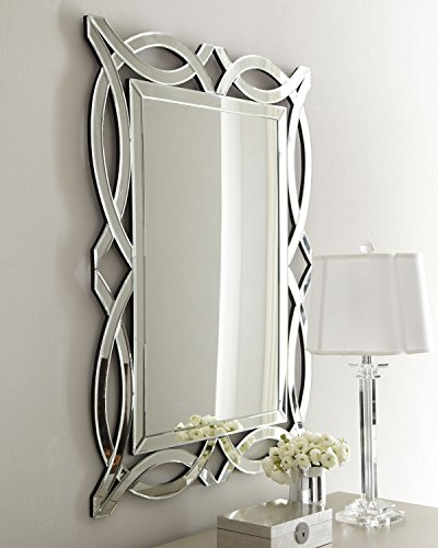 KOHROS Art Decorative Wall Mirrors Large Accent Venetian Mirror for Hotel Home Vanity Sliver Mirror (W 28