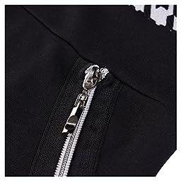 Miusol Women Formal Houndstooth-Print Optical Illusion 2/3 Sleeve Business Dress Black XX-Large