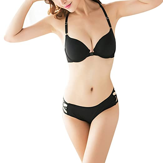 22fa599478b8e Image Unavailable. Image not available for. Color  diffstyle Women Sexy Bra  Front Closure Padded Push Up Brassieres Ultra Underwear