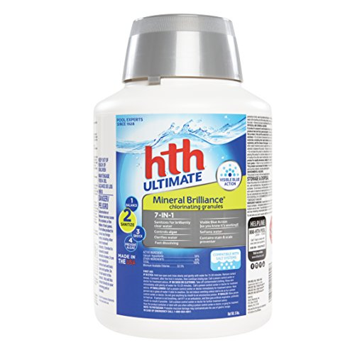 HTH Pool Sanitizer Mineral Brilliance Chlorinating Granules 7-in-1 (22002) (Shock Pool Hth)