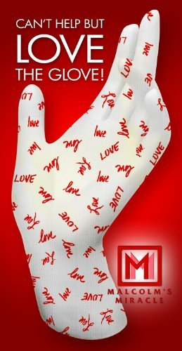 Malcolm's Miracle LOVE Moisturizing Gloves (Medium) - GUARANTEED for TWO YEARS - Made in the USA...