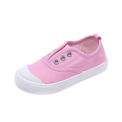 save off 73de8 93cc1 Topgrowth Sneakers Bambina Ragazzo Ragazza Scarpe di Tela Tinta Unita  Carina Scarpe per Bambini Primavera 6 Mesi-8 Anni
