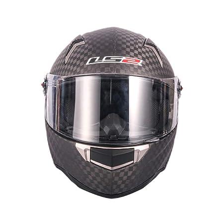 Lsrryd LS2 FF396 12K Fibra de Carbono Casco de Motocicleta de Cara Completa Lente antivaho Compatible