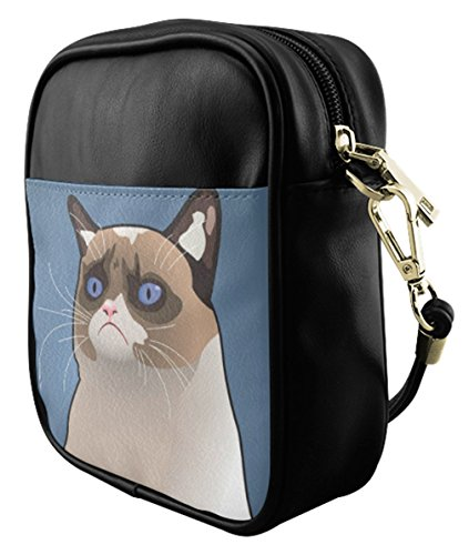 Bag Bag Bag Fashion Print Sling Female Leather Grumpy with Sb004pgc09 Crossbody Shoulder Cat XqxBxw0pS