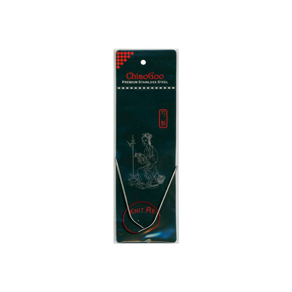ChiaoGoo 9-Inch Red Line Circular Knitting Needles, 1/2.25mm