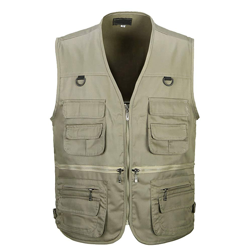 Tiger Castle Mens Multi Pocket Leisure Outdoor Photographer Vest