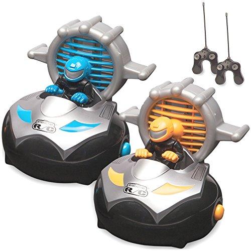 Kid Galaxy Remote Control Bump 'n Chuck Bumper Cars. RC Toy Game. 2 Radio Control Vehicles