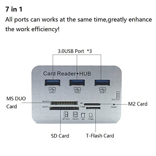 ERCRYSTO USB3.0 and USB Hub, High Speed Memory Reader