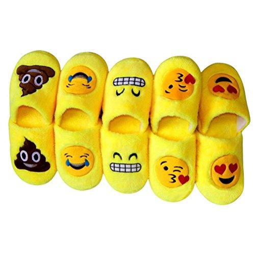 Antidérapant coton BESTOYARD caca Emoji en Hiver Chaussons intérieur Pantoufle Chaussons et suède OqzIq6H