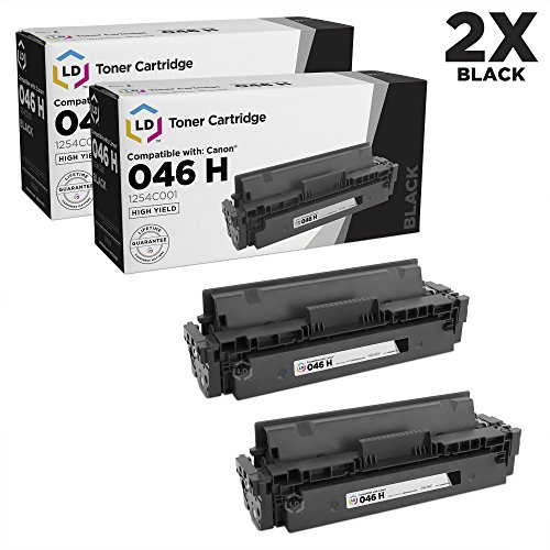 LD Compatible Toner Cartridge Replacement for Canon 046H 1254C001 High Yield (Black, 2-Pack)