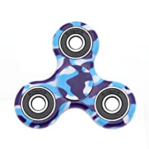 [Figit] The Anti-Anxiety 360 Spinner Helps Focusing Fidget Toy Premium Quality EDC Focus Toy for Kids & Adults - Best Stress Reducer Relieves ADHD Anxiety and Boredom Cube Bearing (Camouflage blue)