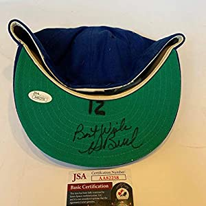 1960's Ken Boswell Signed Game Used New York Mets Hat Cap With COA JSA Certified Game Used MLB Hats