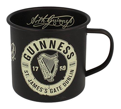 Guinness Enamel Mug With St' James Gate Label Black ()