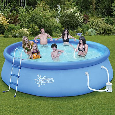 Amazon.com : SUMMER ESCAPES ABOVE GROUND FAMILY SWIMMING POOL 14\' X ...