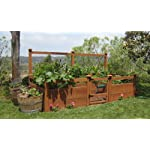 """Just Add Lumber Vegetable Garden Kit - 8'x12' Deluxe 7 DOES NOT INCLUDE LUMBER. Kit includes everything but the lumber: 12 Raised bed brackets, black plastic netting for fencing, black nylon netting for rear trellis, black vinyl-coated steel wire for gate, ceramic-coated rust resistant screws, plus all other required hardware and detailed instructions Buy your own rough lumber locally - Build the ultimate vegetable garden with this kit. Required rough construction lumber : (6) 2""""x10""""x12', (6) 2""""x10""""x8', (5) 2""""x4""""x12', (1) 2""""x4""""x6', (4) 2""""x2""""x12', (3) 1-5/8""""x1-5/8""""x12' (actual size). Note: the lumber boards will need to be further cut into the sizes described in the assembly instructions Gated garden keeps out rabbits and dogs"""