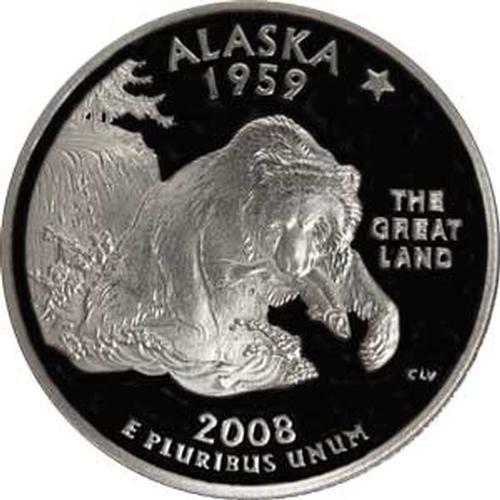 Alaska State Coin - 2008 Alaska S Gem Proof State Quarter US Coin