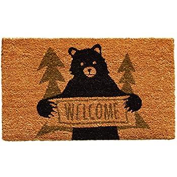 Home \u0026 More 122261729 Bear Greeting Doormat Natural/Green/Black  sc 1 st  Amazon.com & Amazon.com: Park Designs Welcome Home Black Bear Doormat: Home \u0026 Kitchen