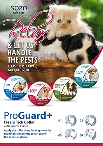 Flea-Tick-Collar-MEDIUM-DOG-ProGuard-Plus-II-safe-pet-protection-from-pest-bites-infestations-larvae-lice-mosquitoes