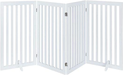 UniPaws Puerta plegable de madera para mascotas, con 2 patas de ...