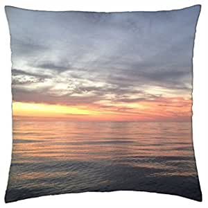 Sunset over Coral Sea - Throw Pillow Cover Case (18