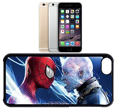Cas de l'iPhone 6. Plastique noir avec High Gloss Imprime Inserer - The Amazing Spiderman