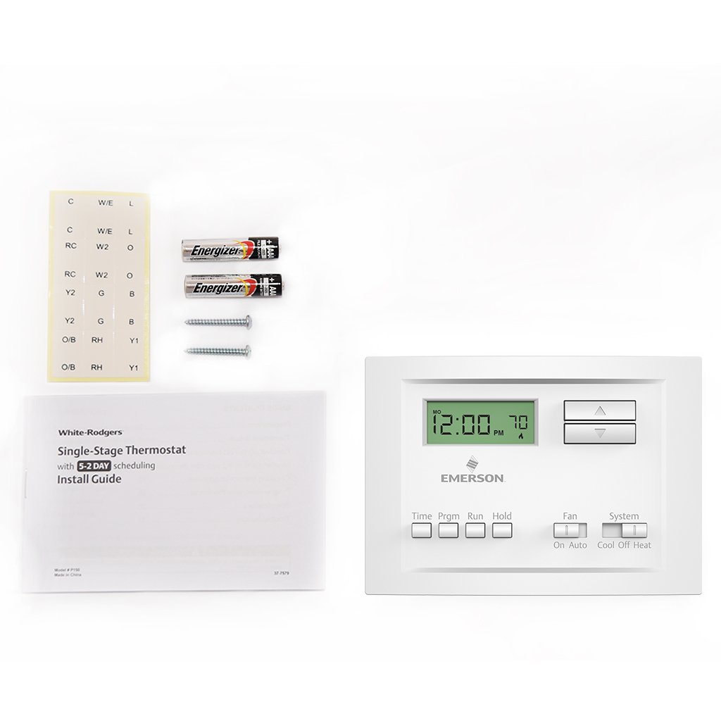 White Rodgers P200 5 1 Day Programmable Thermostat For Single Wiring Diagram 1f80 361 Stage Systems Household Thermostats