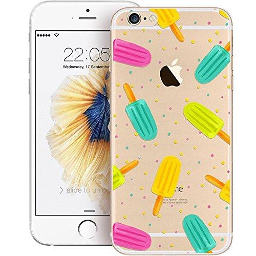 "Coque iPhone 6S Silicone Transparent, Protective Bumper Case Housse pour 4.7"" Apple iPhone 6 / iPhone 6S Ultra Slim Crystal Clear TPU Case Housse Silicone Étui Gel Fine Anti-Scratch Effacer Back Couve"