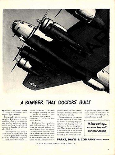 Dr Bomber (A Bomber That Doctors Built - Boeing B-17 - Parke Davis & Company ad 1942 L)