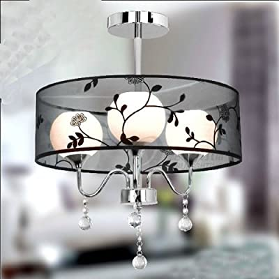 LightInTheBox Garden Lighting Modern Fashion Living Room Lamps Flush Mount Ceiling Lighting Fixture Chandeliers Pendent Light Warm White